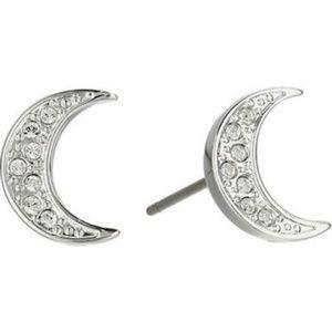 Swarovski crescent moon earrings